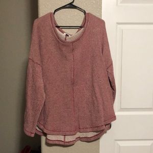 Old Navy heavy thicker red top
